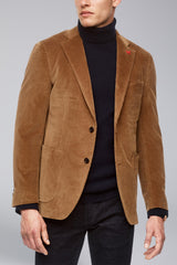 Anderson Contemporary Fit Cord Sport Coat - Tobacco