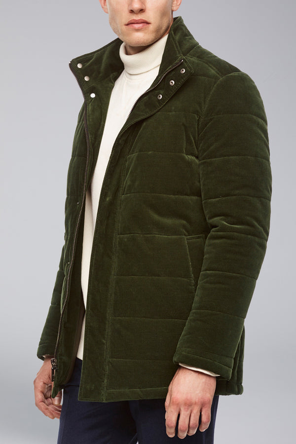 Manson Regular Fit Car Coat - Olive Green