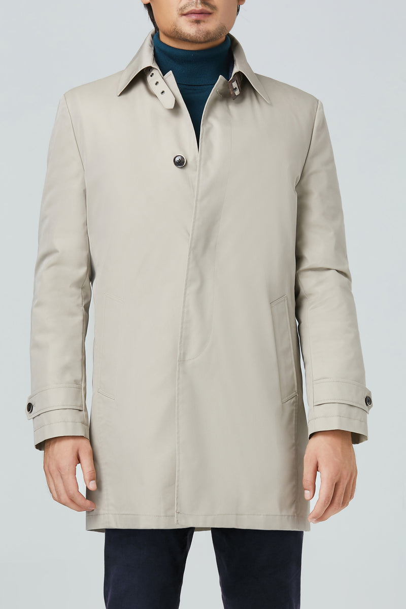 Vance Polyester Cotton Raincoat - Beige