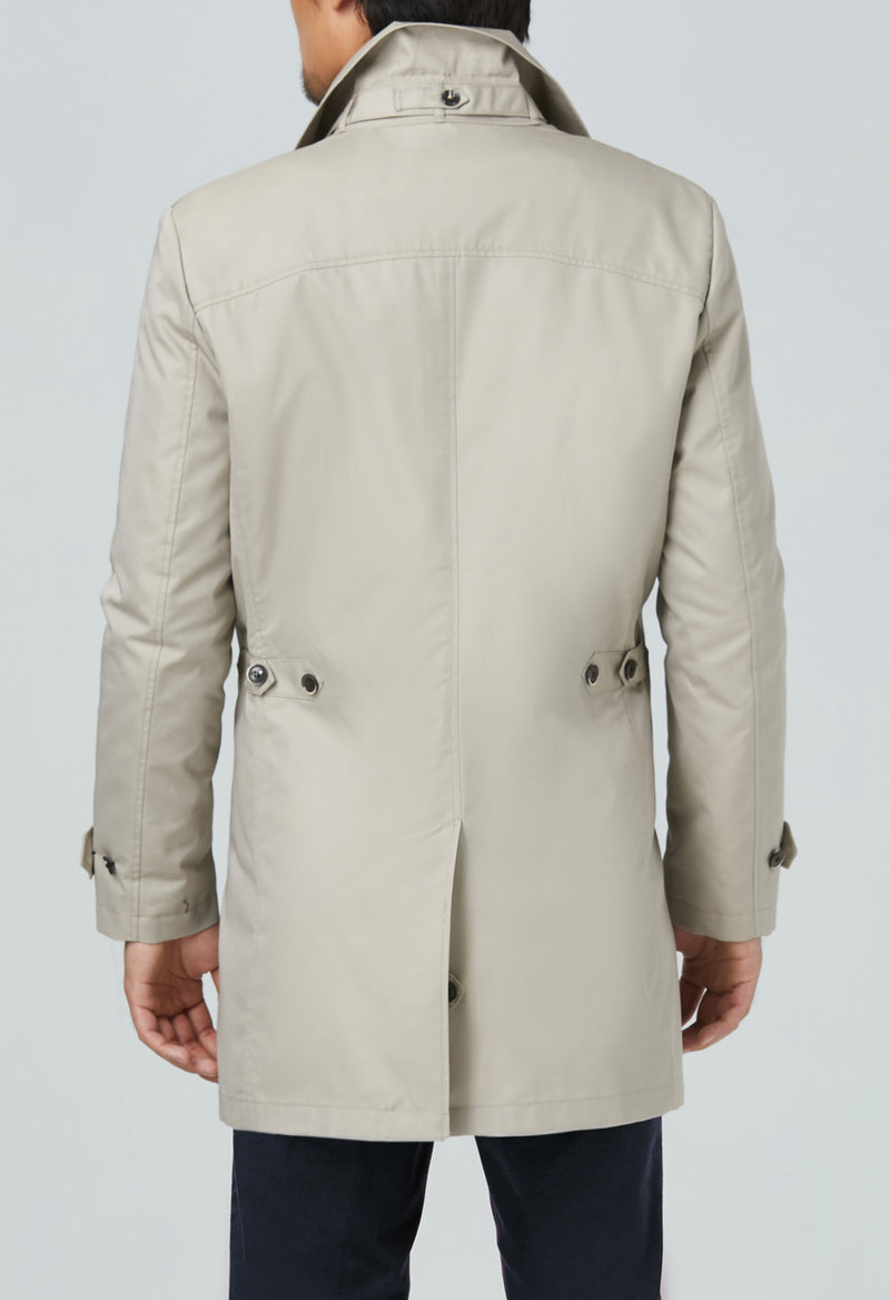 Vance Cotton Polyester Raincoat - Beige
