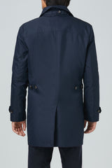 Vance Polyester Cotton Raincoat - Navy