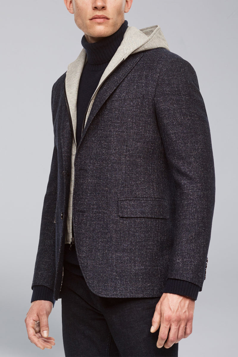 Austin Modern Fit Versatile Wool Sport Coat - Blue