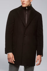 LeClaire Cashmere Wool Blend Overcoat - Black
