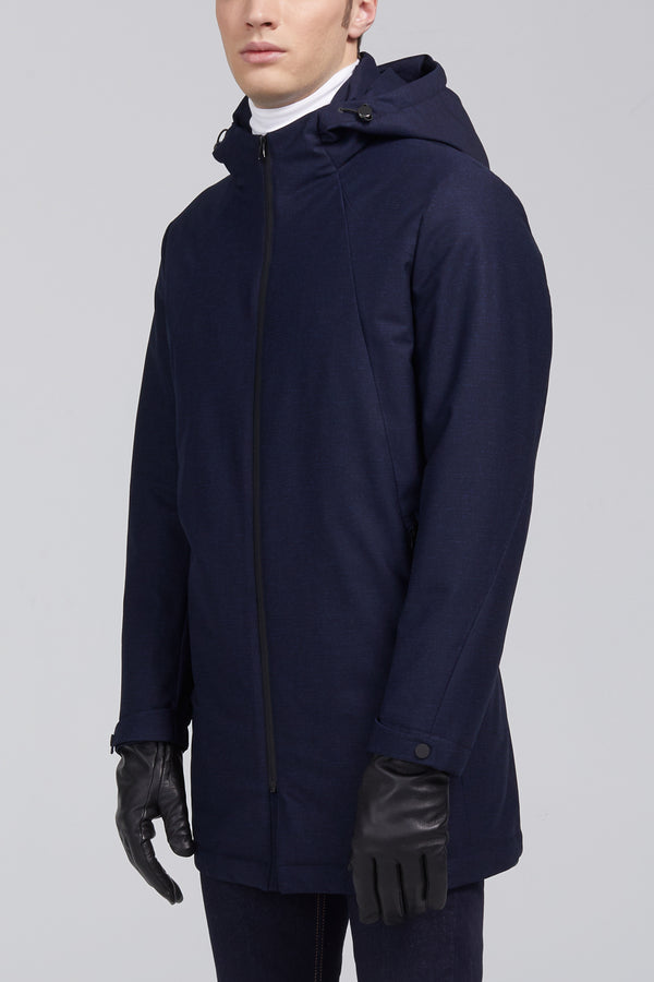 Major Modern Fit Down Jacket - Navy Melange