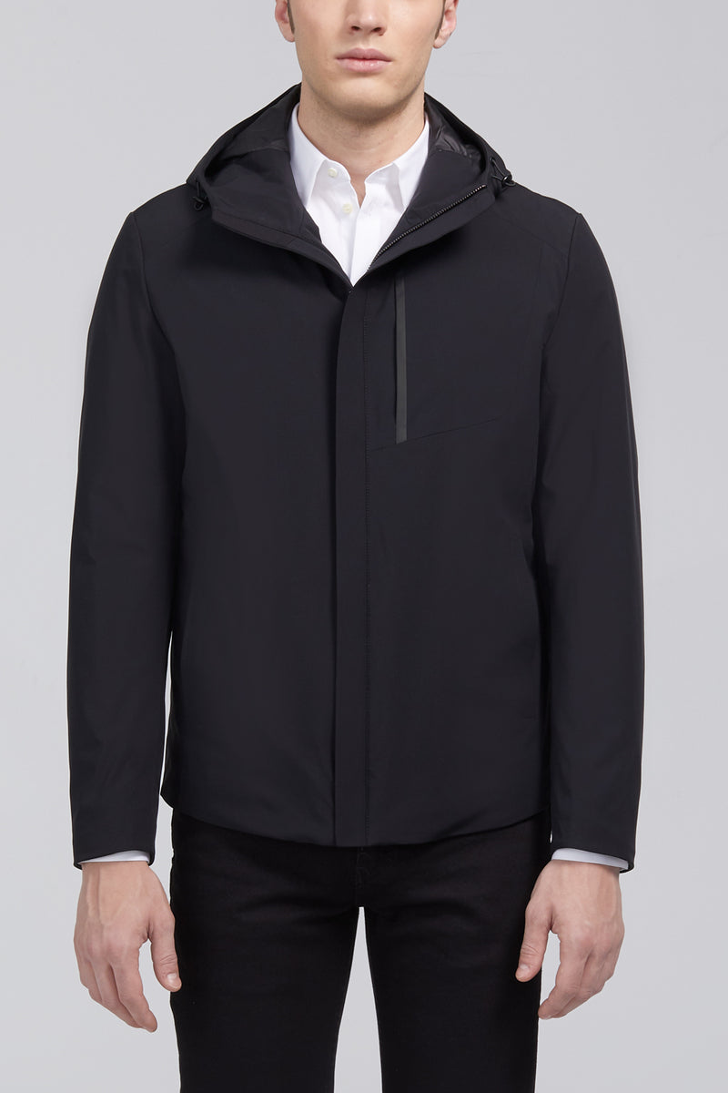 Mauro Modern Fit Down Jacket - Black