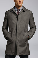 McCarthy Technical Wool Raincoat – Light Grey