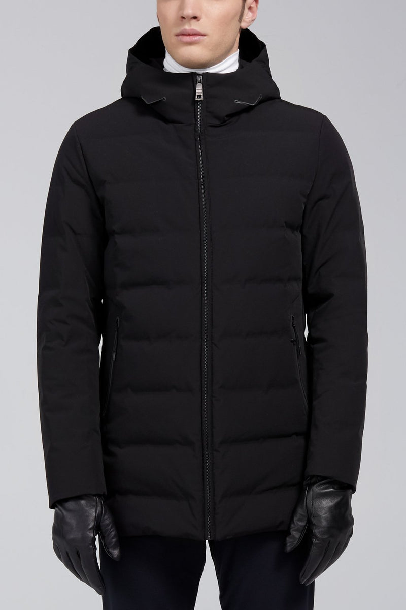 Myles Downfill Coat - Black