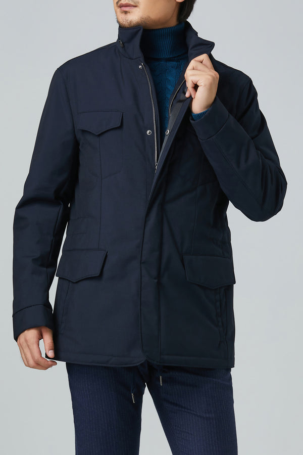 Marlowe Wool Car Coat – Navy