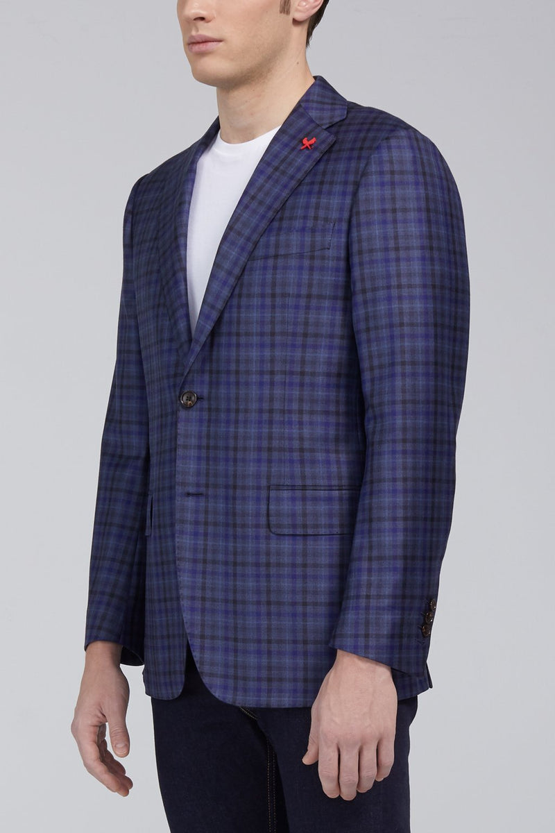 Ashton Graphic Plaid Classic Fit Sport Coat - Navy - Sportcoats - Cardinal of Canada-CA - Ashton Graphic Plaid Classic Fit Sport Coat - Navy