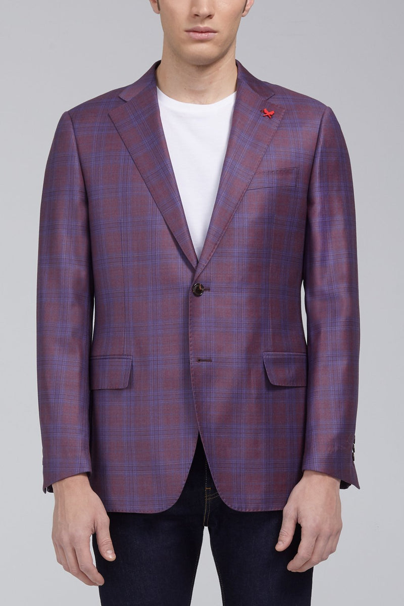 Ashton Plaid Classic Fit Sport Coat - Berry - Sportcoats - Cardinal of Canada-CA - Ashton Plaid Classic Fit Sport Coat - Berry