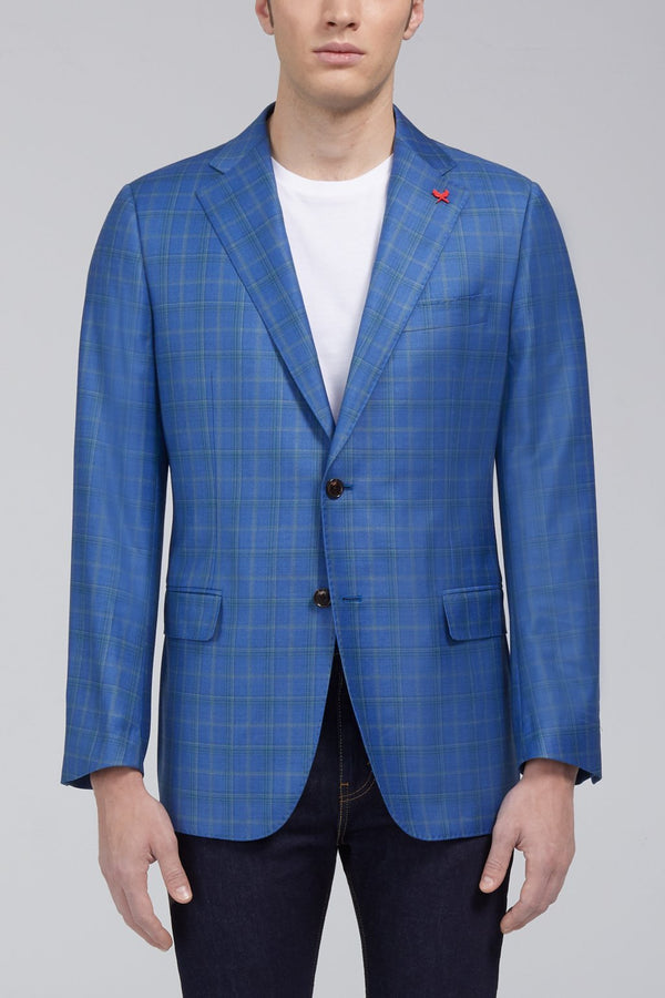 Ashton Tonal Plaid Classic Fit Sport Coat - Light Blue - Sportcoats - Cardinal of Canada-CA - Ashton Tonal Plaid Classic Fit Sport Coat - Light Blue