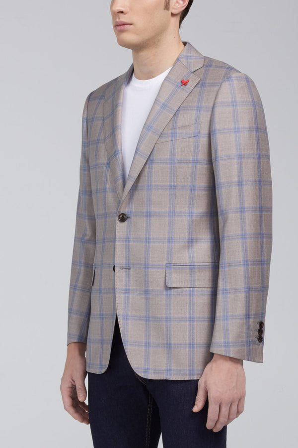 Ashton Windowpane Plaid Classic Fit Sport Coat - Tan - Sportcoats - Cardinal of Canada-CA - Ashton Windowpane Plaid Classic Fit Sport Coat - Tan
