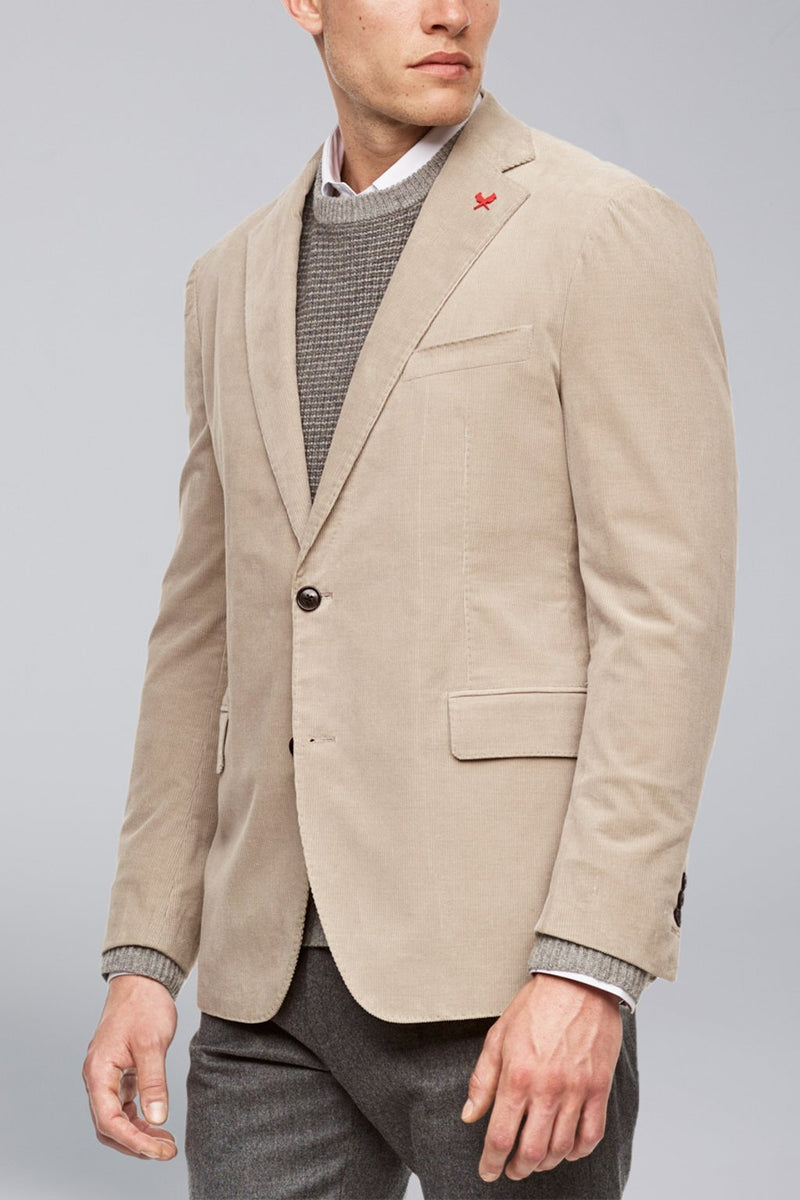 Augustus Contemporary Fit Cord Sport Coat - Stone - Sportcoats - Cardinal of Canada-CA - Augustus Contemporary Fit Cord Sport Coat - Stone