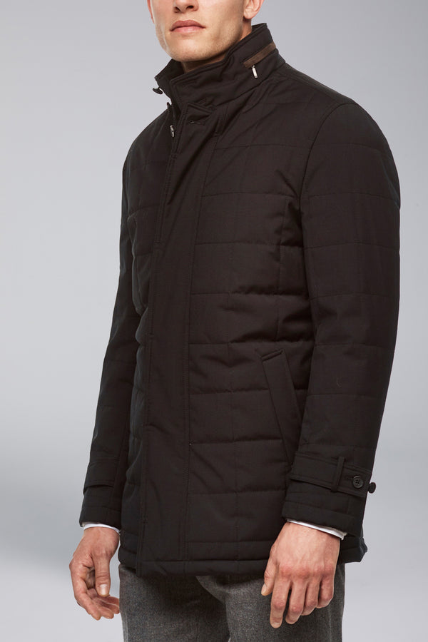 Belmont Technical Wool Coat - Black