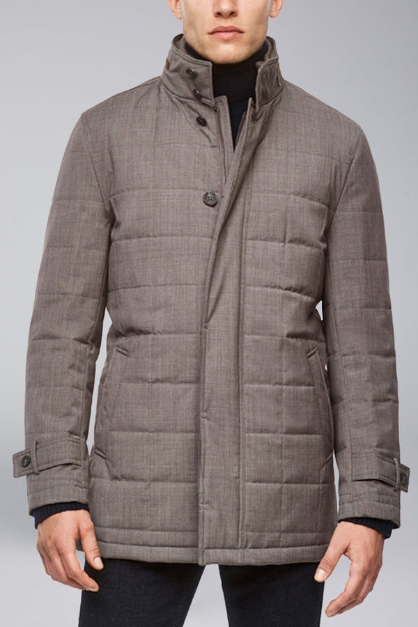 Belmont Technical Wool Coat - Gray - OUTERWEAR - Cardinal of Canada-CA - Belmont Technical Wool Coat - Gray