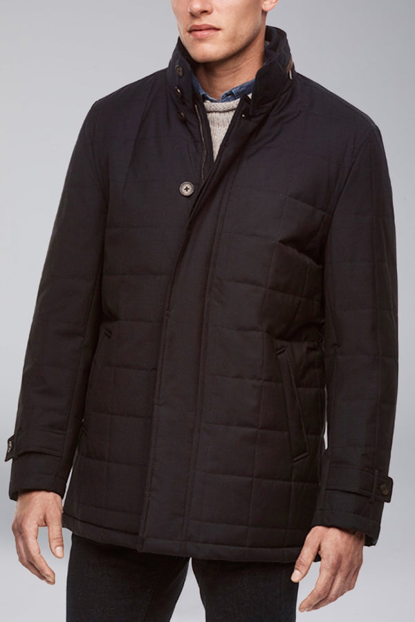 Belmont Technical Wool Coat - Navy - OUTERWEAR - Cardinal of Canada-CA - Belmont Technical Wool Coat - Navy