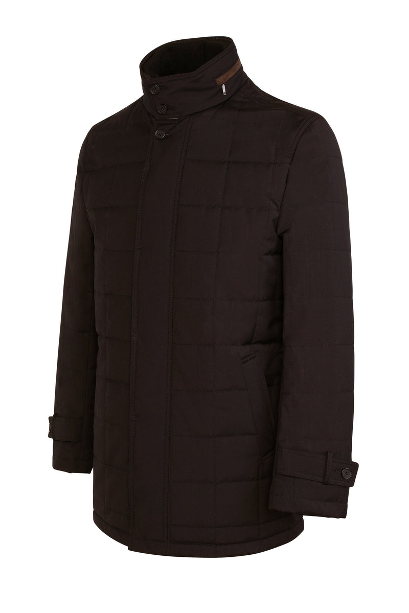 Black Belmont Technical Wool Coat - Cardinal of Canada-CA