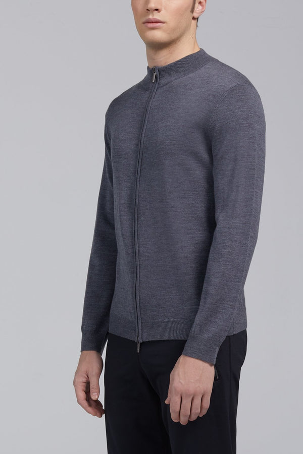 Hennessy High Neck Sweater - Gray - Sweaters - Cardinal of Canada-CA - Hennessy High Neck Sweater - Gray
