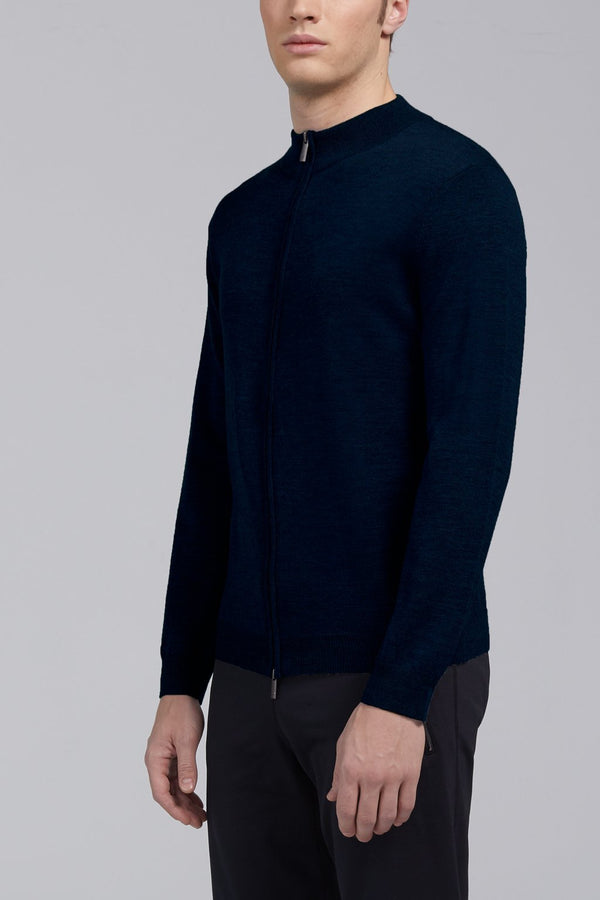 Hennessy High Neck Sweater - Navy - Sweaters - Cardinal of Canada-CA - Hennessy High Neck Sweater - Navy