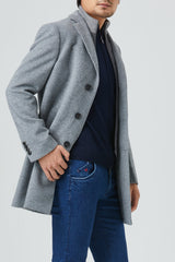 LeClaire Wool Blend Overcoat - Light Grey - Overcoats - Cardinal of Canada-CA - LeClaire Wool Blend Overcoat - Light Grey