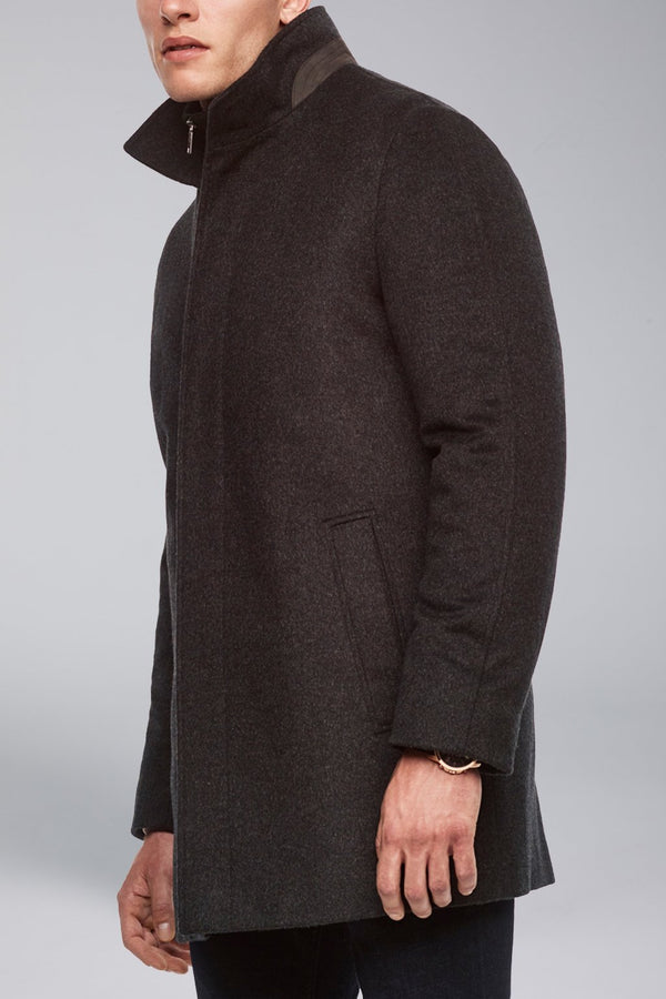 Mont Royal Cashmere-Wool Overcoat - Charcoal - Outerwear - Cardinal of Canada-CA - Mont Royal Cashmere-Wool Overcoat - Charcoal