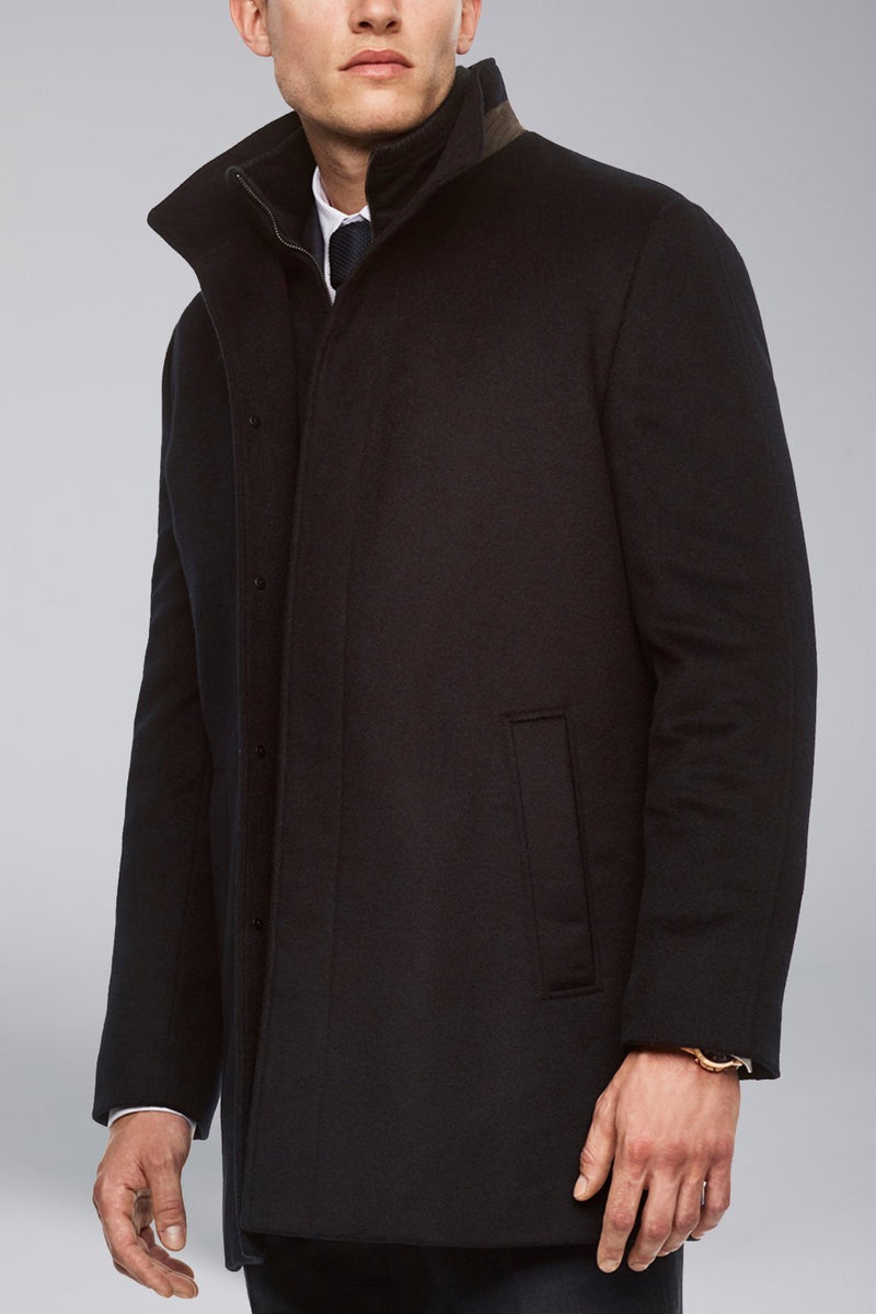Mont Royal Cashmere-Wool Overcoat - Navy - OUTERWEAR - Cardinal of Canada-CA - Mont Royal Cashmere-Wool Overcoat - Navy