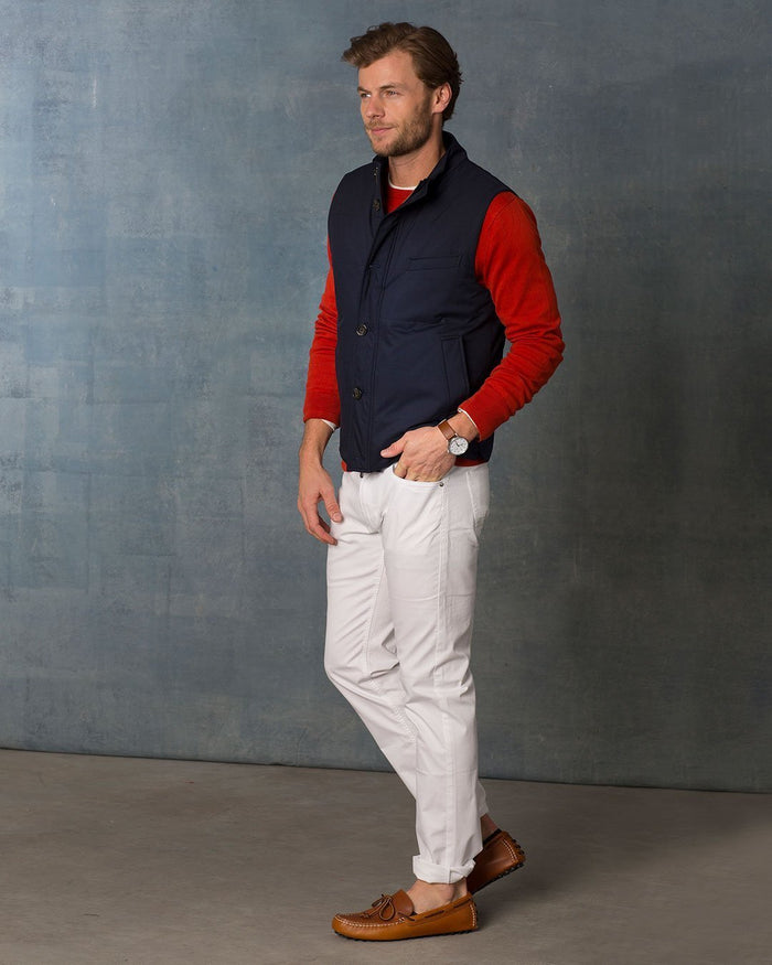 Reid Quilted Utility Vest in Navy - Cardinal of Canada-CA