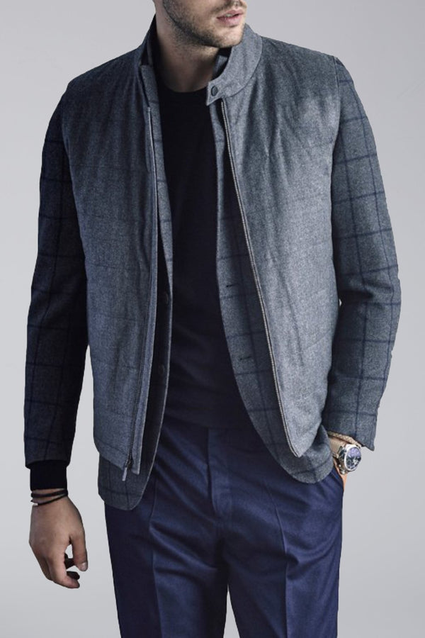 Riley Quilted Wool Vest - Gray Mix - OUTERWEAR - Cardinal of Canada-CA - Riley Quilted Wool Vest - Gray Mix