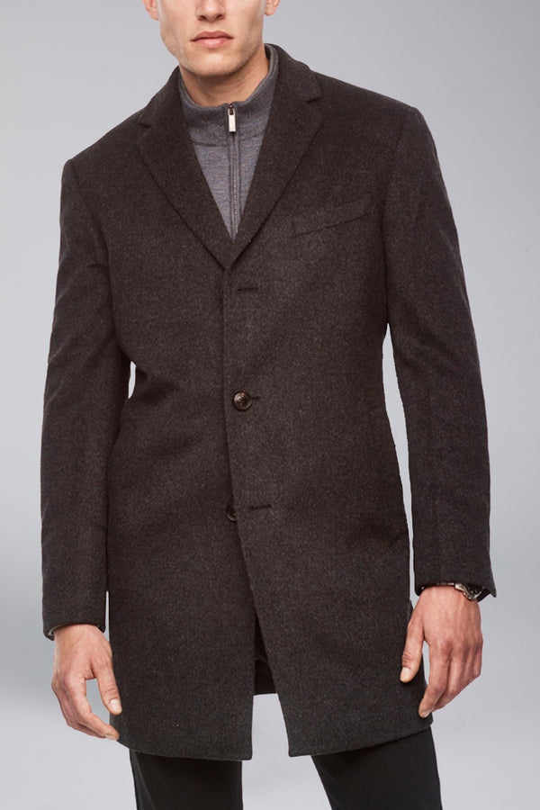 Saint-Paul Cashmere Wool Heritage Overcoat - Charcoal - OVERCOATS - Cardinal of Canada-CA - Saint-Paul Cashmere Wool Heritage Overcoat - Charcoal