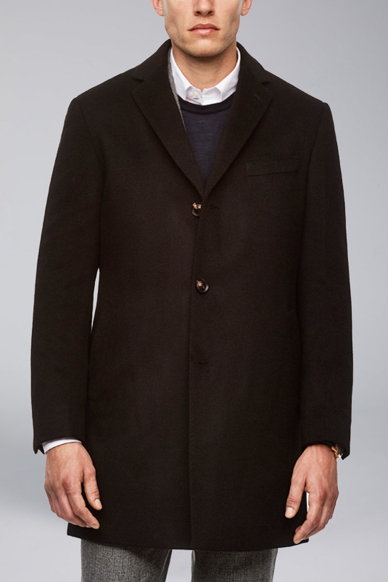 Saint-Paul Cashmere Wool Heritage Topcoat – Black - Overcoats - Cardinal of Canada-CA - Saint-Paul Cashmere Wool Heritage Topcoat – Black