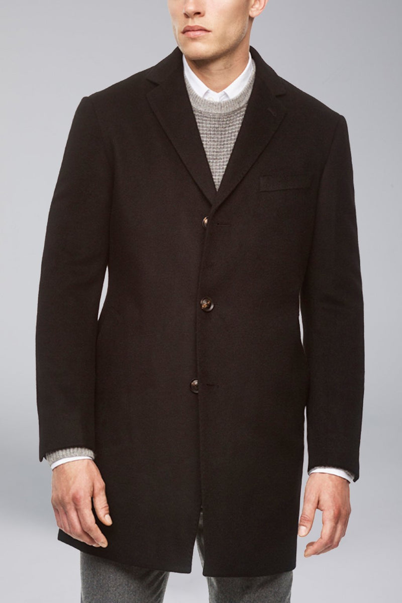 Saint-Paul Cashmere Wool Heritage Topcoat – Navy - Overcoats - Cardinal of Canada-CA - Saint-Paul Cashmere Wool Heritage Topcoat – Navy