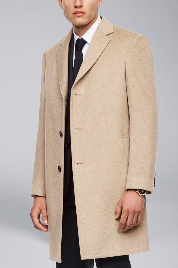 Saint-Pierre Pure Cashmere Overcoat - Oatmeal - Overcoats - Cardinal of Canada-CA - Saint-Pierre Pure Cashmere Overcoat - Oatmeal
