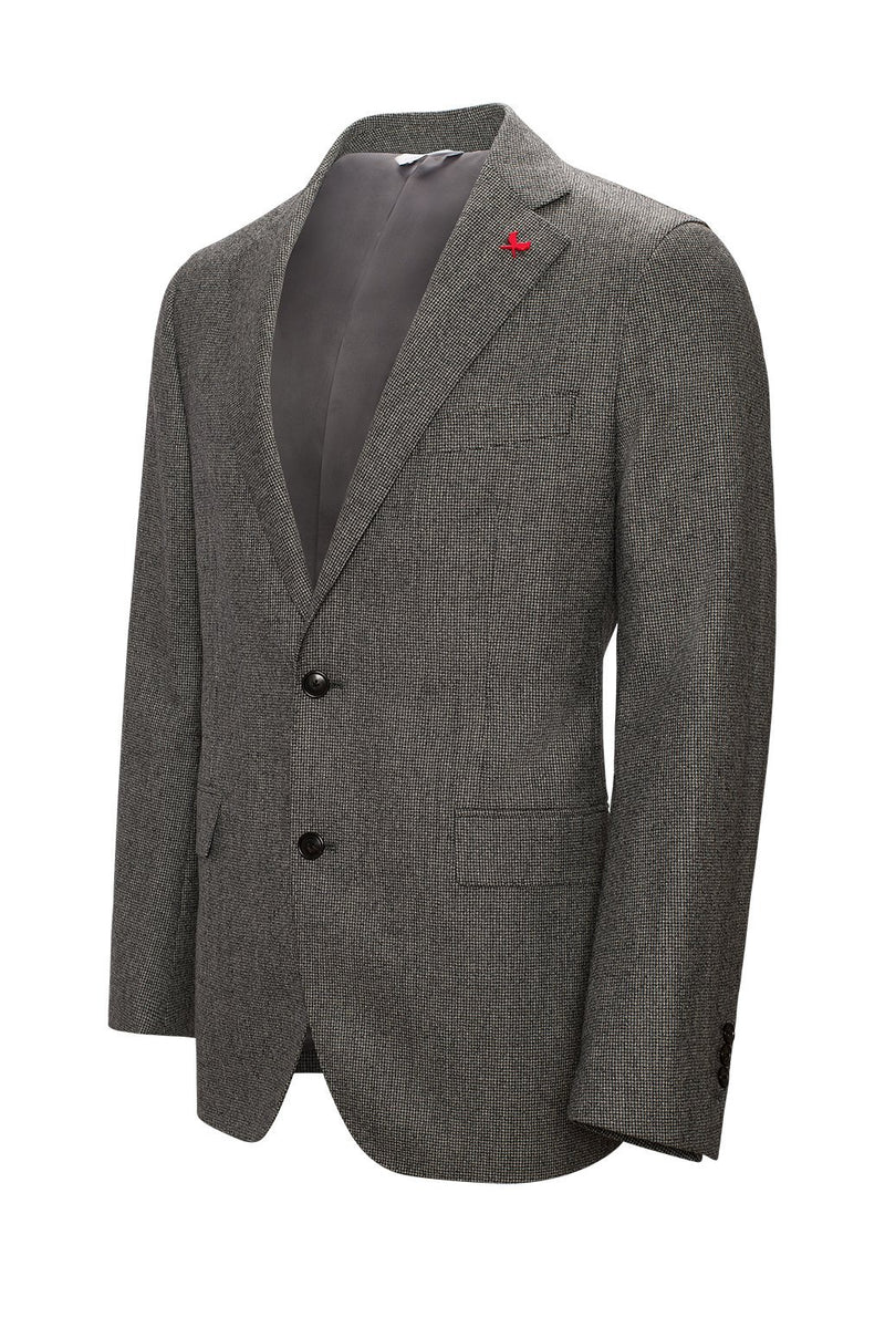 Winslo Slim Fit Wool Suit - Black-Grey Houndstooth - Suits - Cardinal of Canada-CA - Black-Grey Winslo Modern-Slim Fit Wool Suit - Cardinal of Canada-US