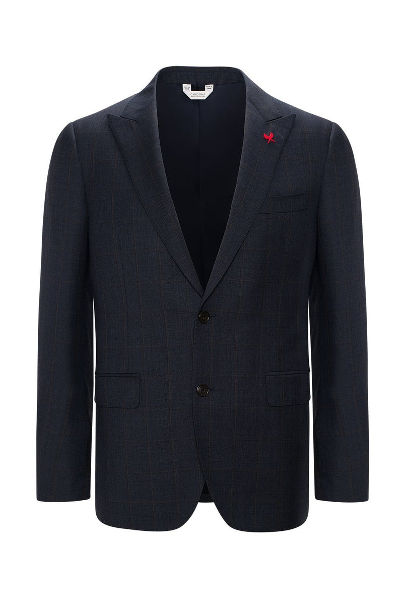 Winslo Slim Fit Wool Suit - Navy Plaid - Suits - Cardinal of Canada-CA - Winslo Slim Fit Wool Suit - Navy Plaid