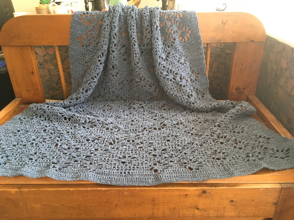 Chenille Lace Throw