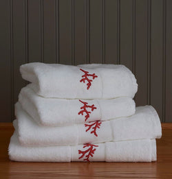Coral Towels by Traditions Linens
