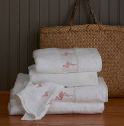 Flamingo Towels by Traditions Linens