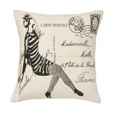 French Print Throw Pillows