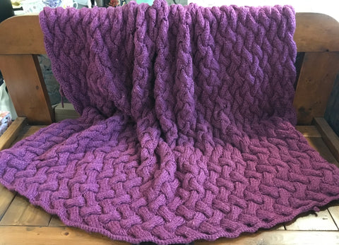 All-Over Cable Throw Blanket