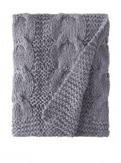 Micah Cable Knit Throw Blankets and Pillows