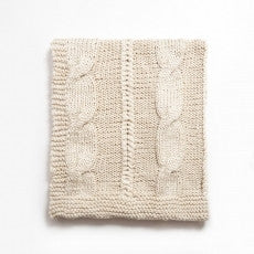 Raj Cable Knit Throw Blankets and Pillows