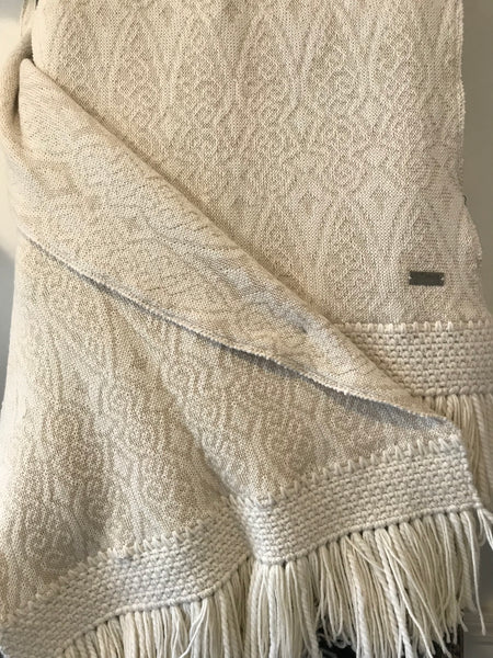 Alpaca shawl or lap throw