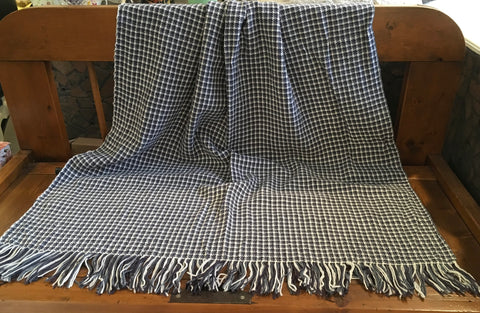 Three Color Houndstooth Throw Blanket