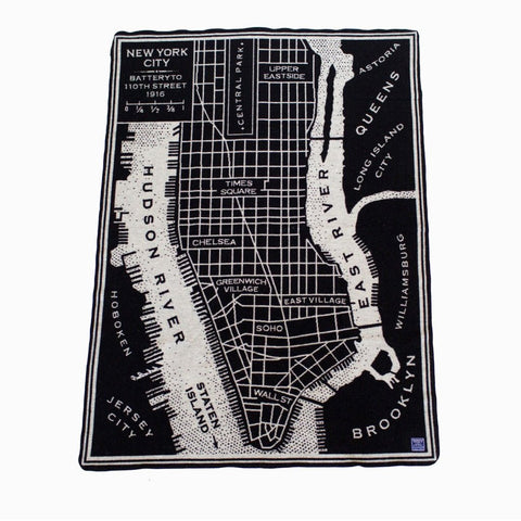 City Map Throw Blanket