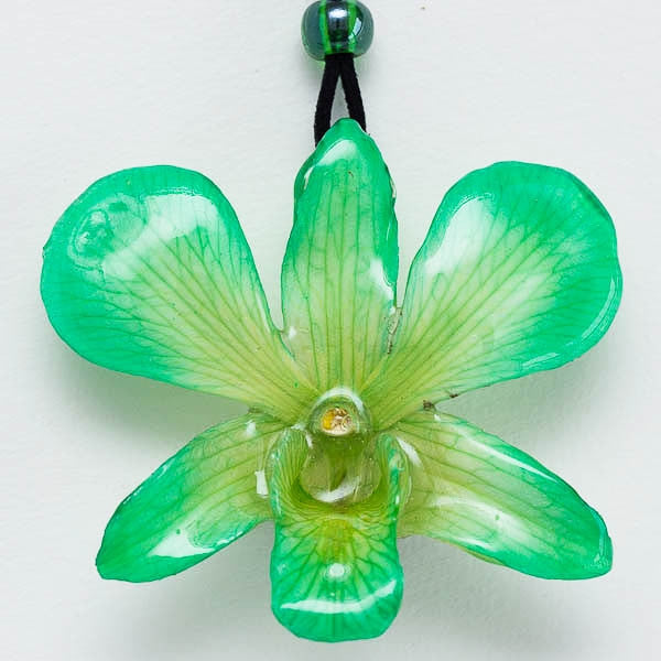 Flower Necklace Green Dendrobium Orchid