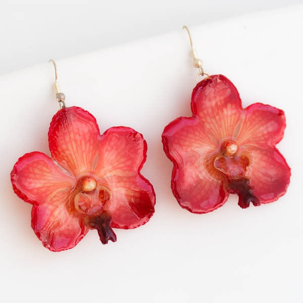 Flower Earrings Pink Vasco orchid earrings