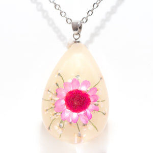 Flower Necklace Orb Bea Pink