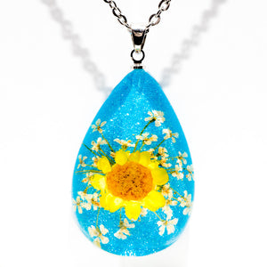 Flower Necklace Orb Bea Yellow-Blue