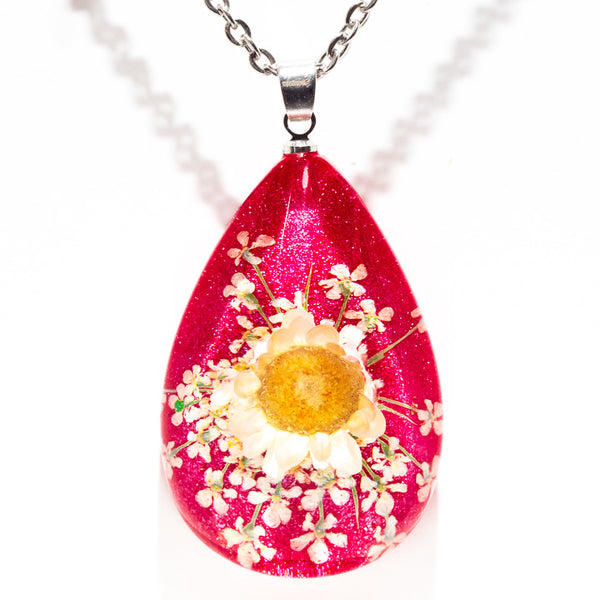 Orb Bea Necklace White-Pink