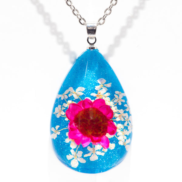 Orb Bea Necklace Pink-Blue